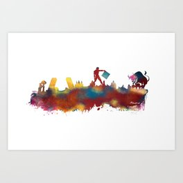 Madrid skyline Art Print