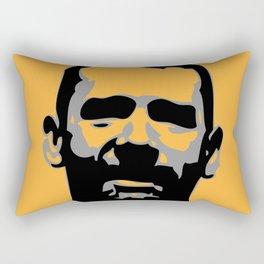 SUNNY bearded male face digital illustration Rectangular Pillow