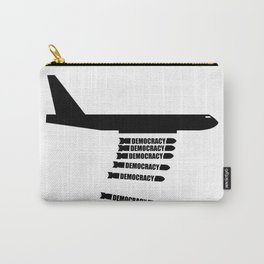 Democracy Bombs War Plane Carry-All Pouch
