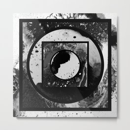 Abstract Geometric Studies In Black And White Metal Print