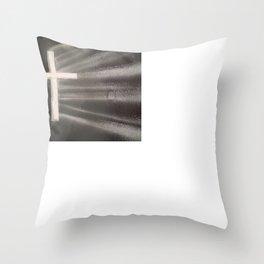 Light Shines Through Darkness Throw Pillow