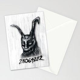 "Donnie Darko Frank The Rabbit ""28 Days...."" Stationery Cards"