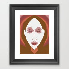 PEOPLE ARE STRANGE Framed Art Print