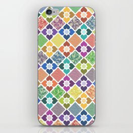 Colorful Floral Pattern III iPhone Skin