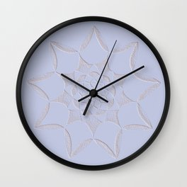 Dot Mandala Light Purple - 3D Pointilism Wall Clock