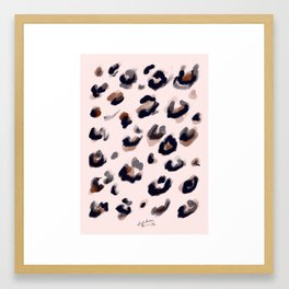 Blush and Leopard Print Framed Art Print