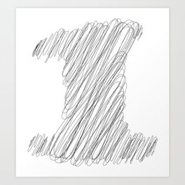 """"""" Cloud Collection """" - Minimal Number One Print Art Print"""