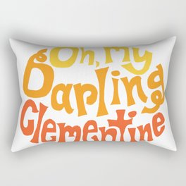 Oh, My Darling Clementine Rectangular Pillow