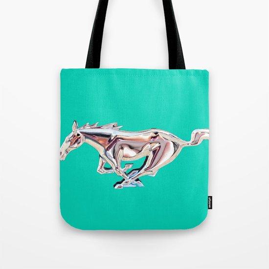 vintage teal Mustang .... Tote Bag