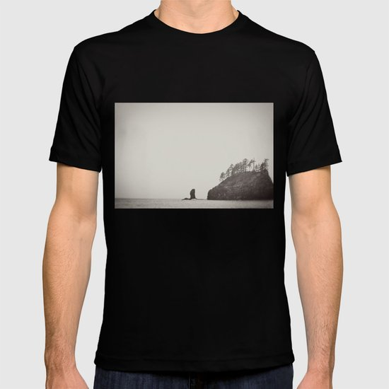 Beach Black and White T-shirt