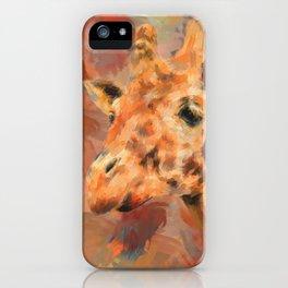 Long Necked Friend Giraffe Art iPhone Case