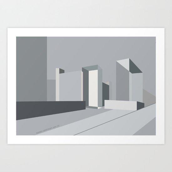 Berlin Perspectives - Karl-Liebknecht-Strasse / Memhardstrasse Art Print