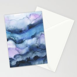 Amethyst abstract watercolor Stationery Cards
