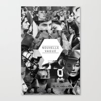 godard Canvas Prints featuring Nouvelle Vague by Dima Tannir