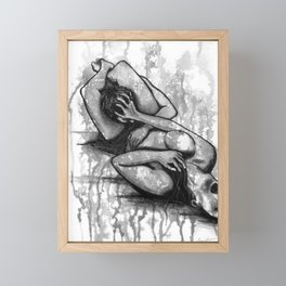 Fight For Your Rights b&w Framed Mini Art Print