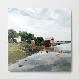 few cabin in the distance Metal Print