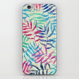 Watercolor Tropical Palm Leaves iPhone Skin