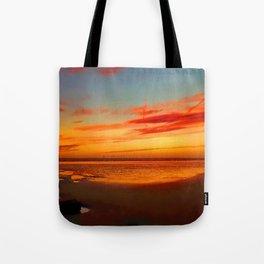 Crosby Beach at Sunset Tote Bag