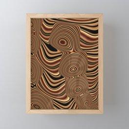 DOBBS earth tone abstract of brown tan rust beige black Framed Mini Art Print