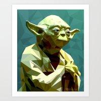 yoda Art Prints featuring Yoda by Whitney Silva