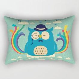 Happy owl with rainbow Rectangular Pillow