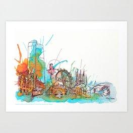 Colours of Melbourne Landscape Art Print