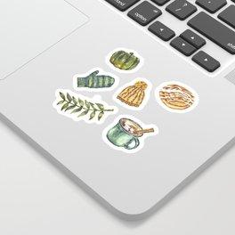 Watercolor Winter Objects Sticker