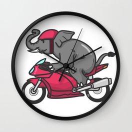motorcycle, motorcycle driving Wall Clock