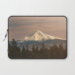 Mount Hood Vintage Sunset - Nature Landscape Photography Laptop Sleeve
