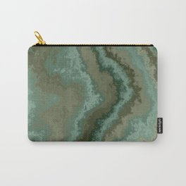 green texture abstract Carry-All Pouch
