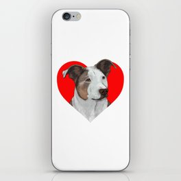 Pit Bull Heart iPhone Skin