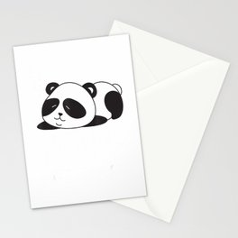 Nope not today funny panda Nope not today Lazy chilling T-Shirt Stationery Cards