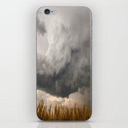 Marshmallow - Storm Cloud Over Golden Wheat in Kansas iPhone Skin