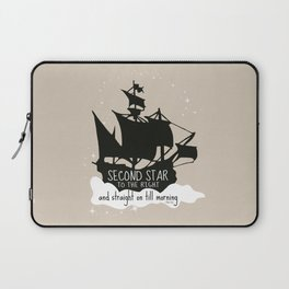 Second star to the right and straight on till morning - Peter Pan Inspired Art Print  Laptop Sleeve