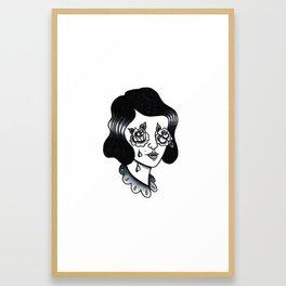 rosy eyed Framed Art Print