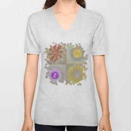 Anticapitalistically Combination Flower  ID:16165-030023-59450 Unisex V-Neck
