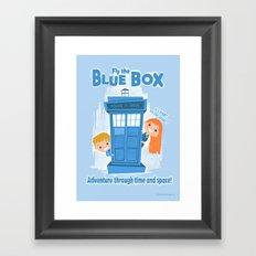 Fly the Blue Box! Framed Art Print