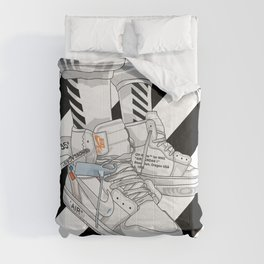 Jordan 1 Off White Poster Comforters