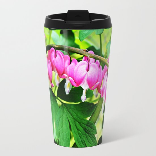 Bleeding Hearts Metal Travel Mug