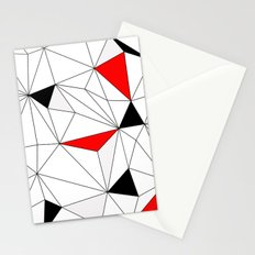 Geo - red, gray, black and white. Stationery Cards