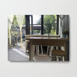 Berlin Coffee Shop Metal Print