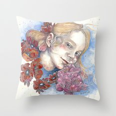 Viola, watercolor portrait Throw Pillow