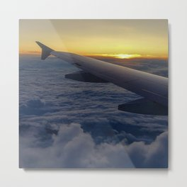 be free as an eagle flight over the clouds Metal Print