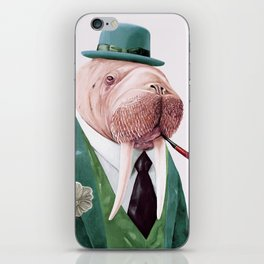 Walrus Green iPhone Skin