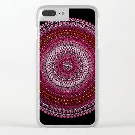 All Pink Mandala Clear iPhone Case