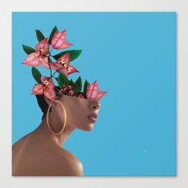 Lady Flowers     Canvas Print