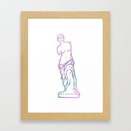 Antique Venus de Milo line art Framed Art Print