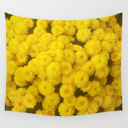 Autumn Gold - Chrysanthemums Wall Tapestry