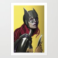 batgirl Art Prints featuring BATGIRL by corverez