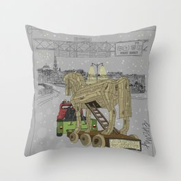 """Anyone seen Helen??"" 2013 a.correia Throw Pillow"